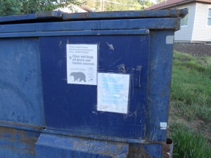 Signage for dumpsters