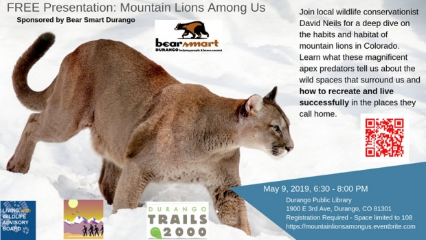 "SOLD OUT: ""Mountain Lions Among Us"" with David Neils"